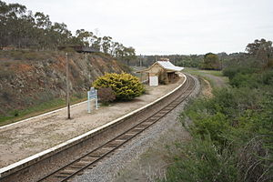 Main Southern railway line, New South Wales - New Binalong railway station on 1916 deviation