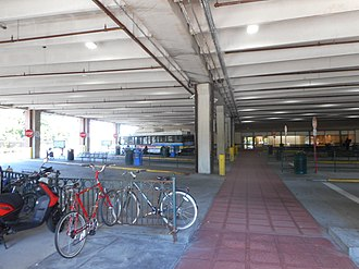 New Rochelle station - Image: New Rochelle Intermodal Terminal; Bike Rack & Buses