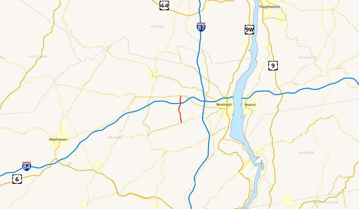 Newburgh New York Map.New York State Route 747 Wikipedia