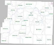 Newton County Arkansas 2010 Township Map large