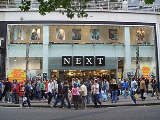 Next plc - A branch of Next showing the old logos on Oxford Street in London in 2005.