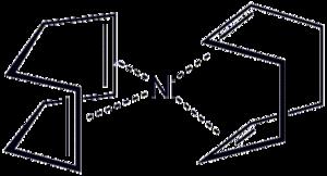 Bis(cyclooctadiene)nickel(0) - Image: Ni(cod)2