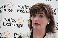 Nicky Morgan, Secretary of State for Education, delivering a speech at Policy Exchange (22745123405).jpg