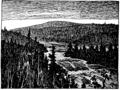 Niels Holgersens vidunderlige Rejse side 426 - Skovlandskab ved Lule-Elv.png