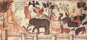 Подпись к иллюстрации:Фрагмент стенной росписи притвора монастыря свт.