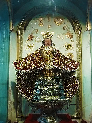 Christ Child - The Santo Niño de Cebu, enshrined in the Philippines.