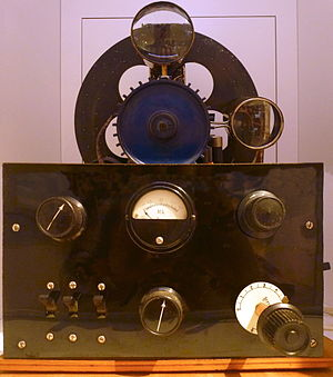 Paul Gottlieb Nipkow -  A television receiver using a Nipkow disk in the Tekniska museet, Stockholm.