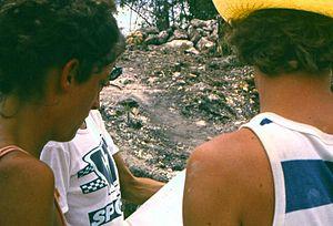 Nohmul - Nohmul excavation at Structure 8, in 1985