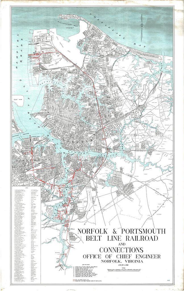 FileNorfolk and Portsmouth Belt Line Railroad map 1947jpg
