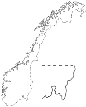 2007 Norwegian First Division - Image: Norge outline