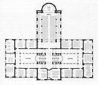 Norra Latin - Norra Latin, blueprint from 1897.