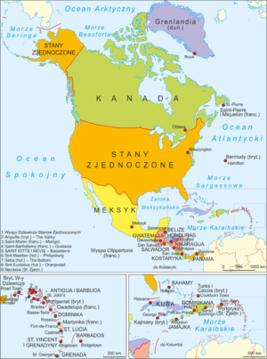 North America-administrative map PL.png