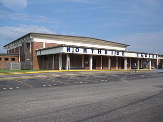 Northside High School (Warner Robins, Georgia) - Gymnasium at Northside High
