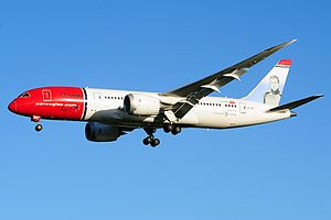 Fuel economy in aircraft - A Boeing 787 from Norwegian Air Shuttle