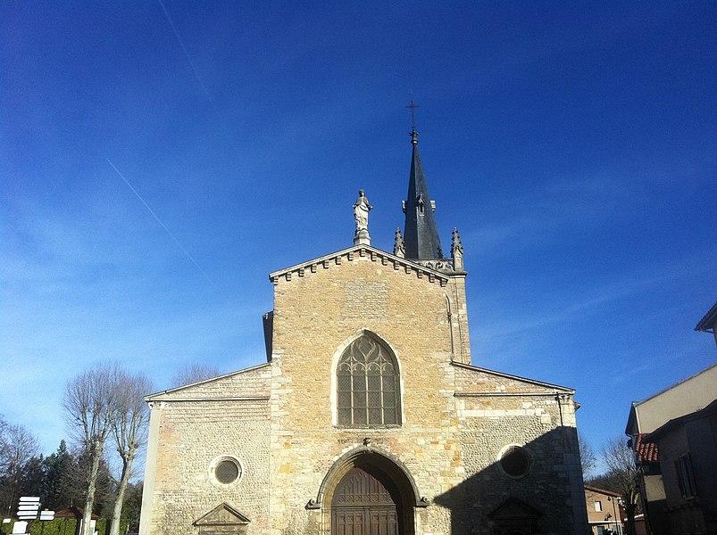Notre-Dame-des-Marais de Montluel, porte sud.