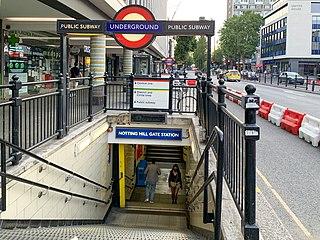 Notting Hill Gate tube station London Underground station