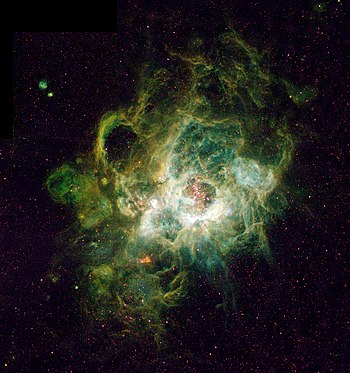 NGC 604 in the Triangulum Galaxy is a very mas...