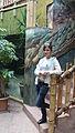 Nyíregyháza Zoo, palm-house, voluntary guide.jpg