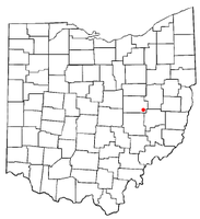Location of Plainfield, Ohio