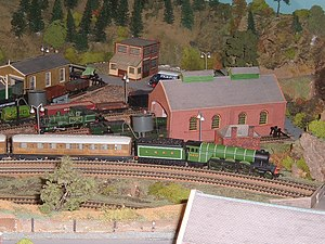 OO gauge - Hornby Railways Flying Scotsman locomotive on an 00 gauge layout
