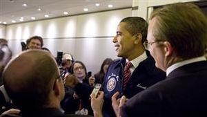 Barack Obama and the White House Press Secreta...