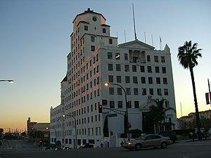 Raymond M. Kennedy - Ocean Center Building, Long Beach, CA - view SSW at dawn.