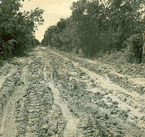 Florida State Road 9336 - The Old Ingraham Highway was little more than a flood-ridden boggy trail through the Everglades.