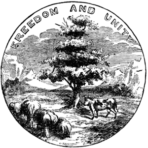 Seal of Vermont - Image: Old Vermont Seal