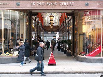 Royal Arcade, London - Entrance at Old Bond Street