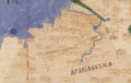 Oldest surviving Ptolemaic map of Palestine, from Ptolemy's fourth map of Asia.png