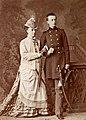 Olga Feodorovna of Russia with her eldest son.jpg