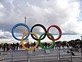 Olympic rings in the Place du Trocadéro in Paris.jpg