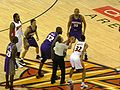 Opening tip at Suns at Warriors 3-15-09.JPG