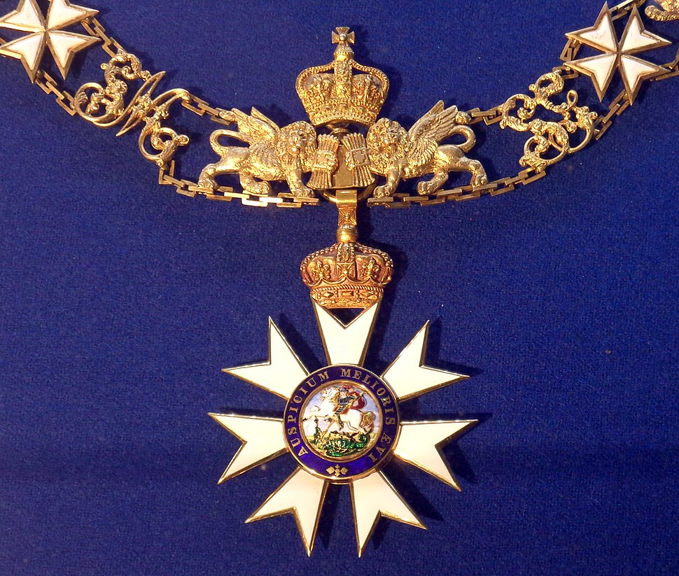 Order of Saint Michael and Saint George grand cross collar badge (United Kingdom 1870-1900) - Tallinn Museum of Orders