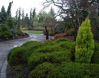 Oregon Garden - Image: Oregon Garden conifer entrance 2007 12 23 15 04 03 0038