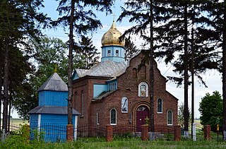 Oryschi Ivanychivskyi Volynska-Church of the Intercession-west view.jpg