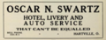 Oscar N. Swartz - Hotel Livery and Auto Service - Hartville Ohio - 1915 advertisement.tiff