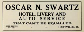 File:Oscar N. Swartz - Hotel Livery and Auto Service - Hartville Ohio - 1915 advertisement.tiff