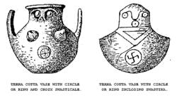 """Dois vasos de óleo - desenho de Schliemann em """"Ilios"""""""