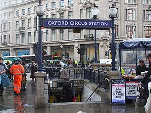 Oxford Circus stn SE subway entrance.JPG