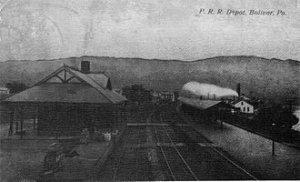 Bolivar, Pennsylvania - The old rail depot