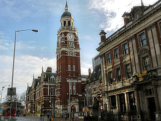 Croydon town in South London, England