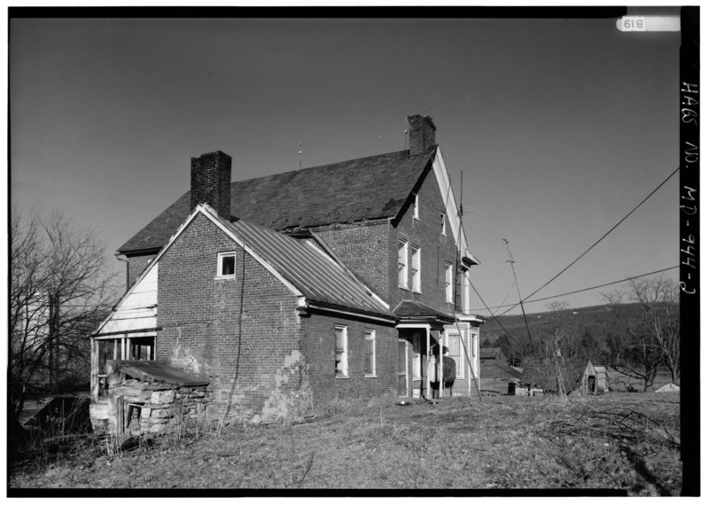 File:PERSPECTIVE VIEW OF SOUTHWEST (REAR) SHOWING ADDITION - Henry Rohrbach Farm, House, East of Burnside Bridge Road, Sharpsburg, Washington County, MD HABS MD,22-SHARP.V,24-2.tif
