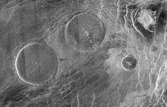 Volcanology of Venus - Image: PIA00084 Eistla region pancake volcanoes