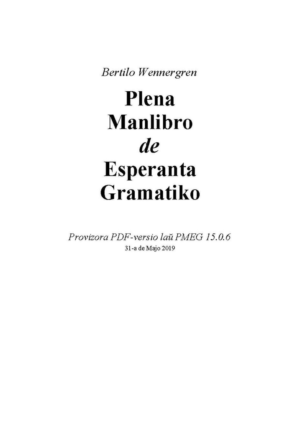 Conjugaison En Esperanto Wikipedia