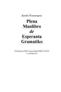 Plena Manlibro de Esperanta Gramatiko cover