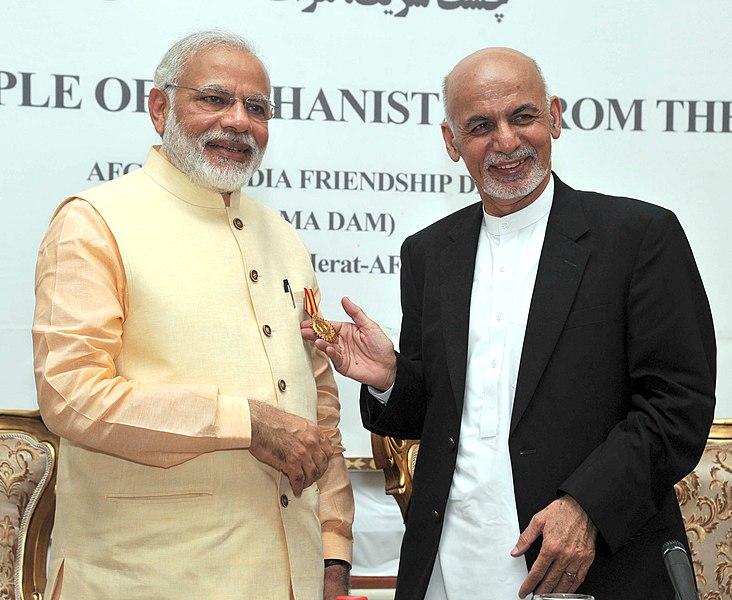 File:PM Modi presented with Amir Amanullah Khan Award ...