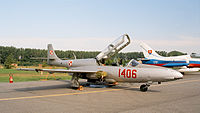 PZL TS-11 Iskra of Polish Air Force (reg. 1406), static display, Radom AirShow 2005, Poland.jpg
