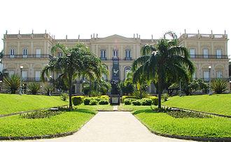 Paço de São Cristóvão - The main façade of the palace in mid-2009.