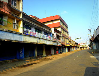 Downtown Kollam - Paikkada road in Downtown Kollam - Once this road was the nerve centre of the Malabar Coast's business capital 'Quilon'